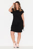 Basic Tie Front Dress- Black