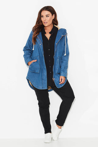 Cartel Hooded Jacket- Indigo