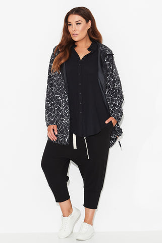 Electric Love Print Raincoat