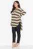Slub Knit Top- Natural Stripe