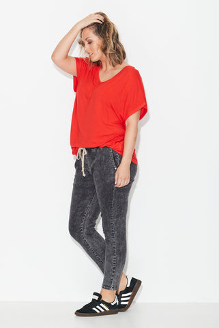 Dolman Tee- Red