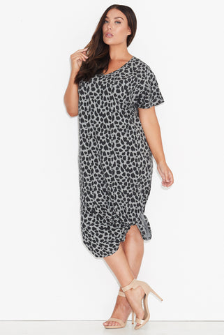 Leopard Print Maxi Dress 17 Sundays