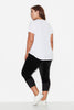 Basic Notched Neck Tee- White