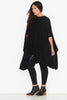Gauze knit cape- Black 17 Sundays