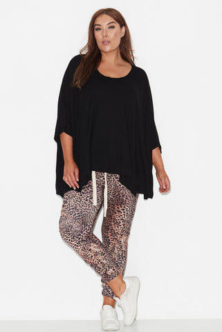 Kindred  Spirit Drape Top- Black