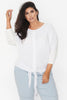TIE FRONT CIRCLE TOP - WHITE