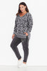 Leopard Print Side Split Sweat