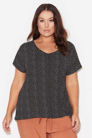 BASIC DOLMAN TEE - MINI DOTS