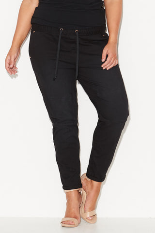 FINKS PANEL JOGGERS - BLACK