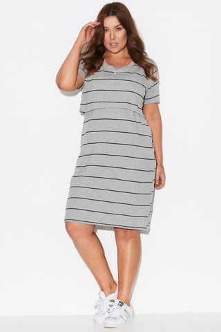 Double Layer Tee Dress