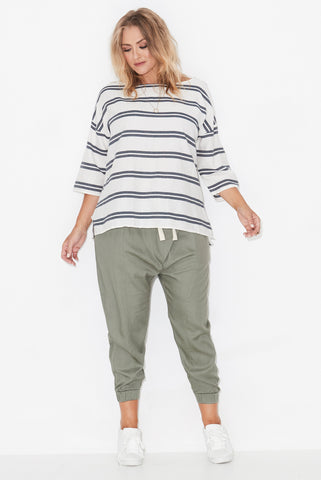 NOVA-CROSS FRONT TENCEL JOGGERS - OLIVE 17 Sundays