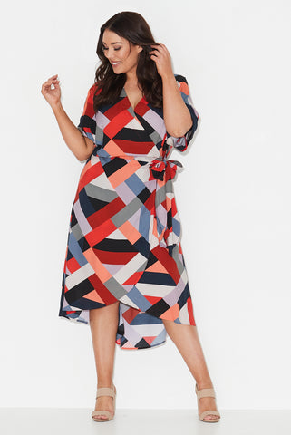 Harlequin Nights Wrap Dress- Pre order