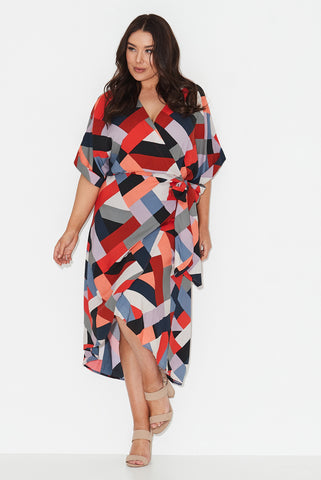 Harlequin Nights Wrap Dress