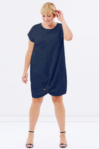 Knot Front Dress INK BLUE