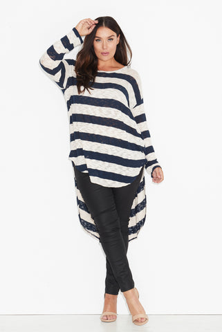 Wide Stripe Slub Knit Top 17 Sundays