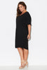 Jersey wedge dress- Black