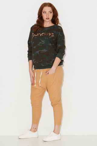 Camo Print Sweat Top 17 Sundays