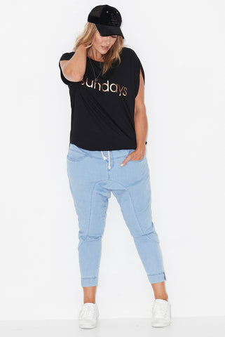 17 COCOON TEE,plus size branded tee, 17 Sundays