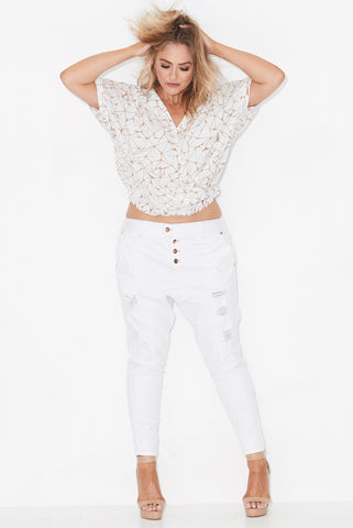 SEARCH & DESTROY DENIM JEANS WHITE 17 Sundays