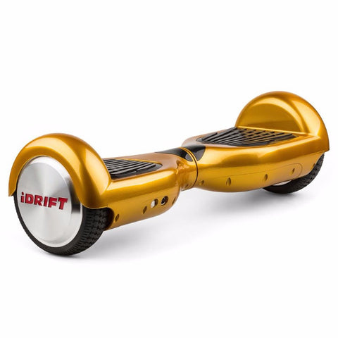 "iDRIFT Self-Balancing Scooter/Board, Segway or Hoverboard 6.5"" -Gold- Smart Skate n' Cycle Australia"