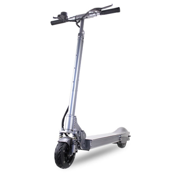 Patgear E5 Foldable Adult Electric Scooter with Carry Bag -Silver Color- Smart Skate n Cycle
