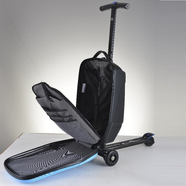 Smart Suitcase Luggage Foldable Adult S Kick Scooter Now