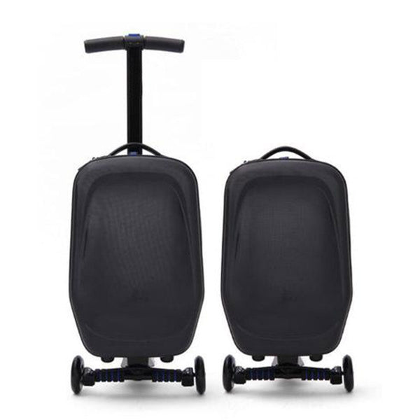 Smart Suitcase/Luggage Foldable Adult's Kick Scooter - Smart Skate n' Cycle