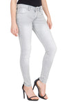 Kopyneko Women's Denim Stretchable Grey Jeans
