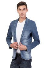 Load image into Gallery viewer, Krossstitch Men's Casual Slim Fitted Button Jeans Blazers Jacket Suit