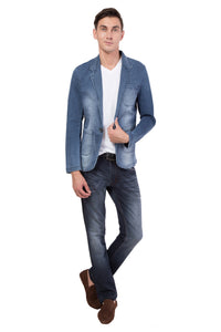 Krossstitch Men's Casual Slim Fitted Button Jeans Blazers Jacket Suit