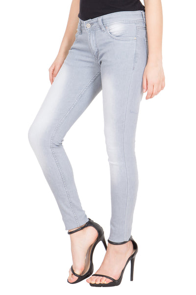 Kopyneko Women's Denim Stretchable Dark Grey Jeans