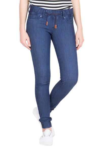 Kopyneko Women's Denim Dark Blue Stretchable Joggers