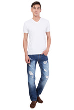 Load image into Gallery viewer, Men's Ripped Slim Fit Straight Denim Jeans Pants Vintage Style with Broken Holes