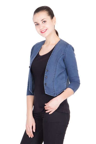 Kopyneko Women's Denim Blue Shrugs