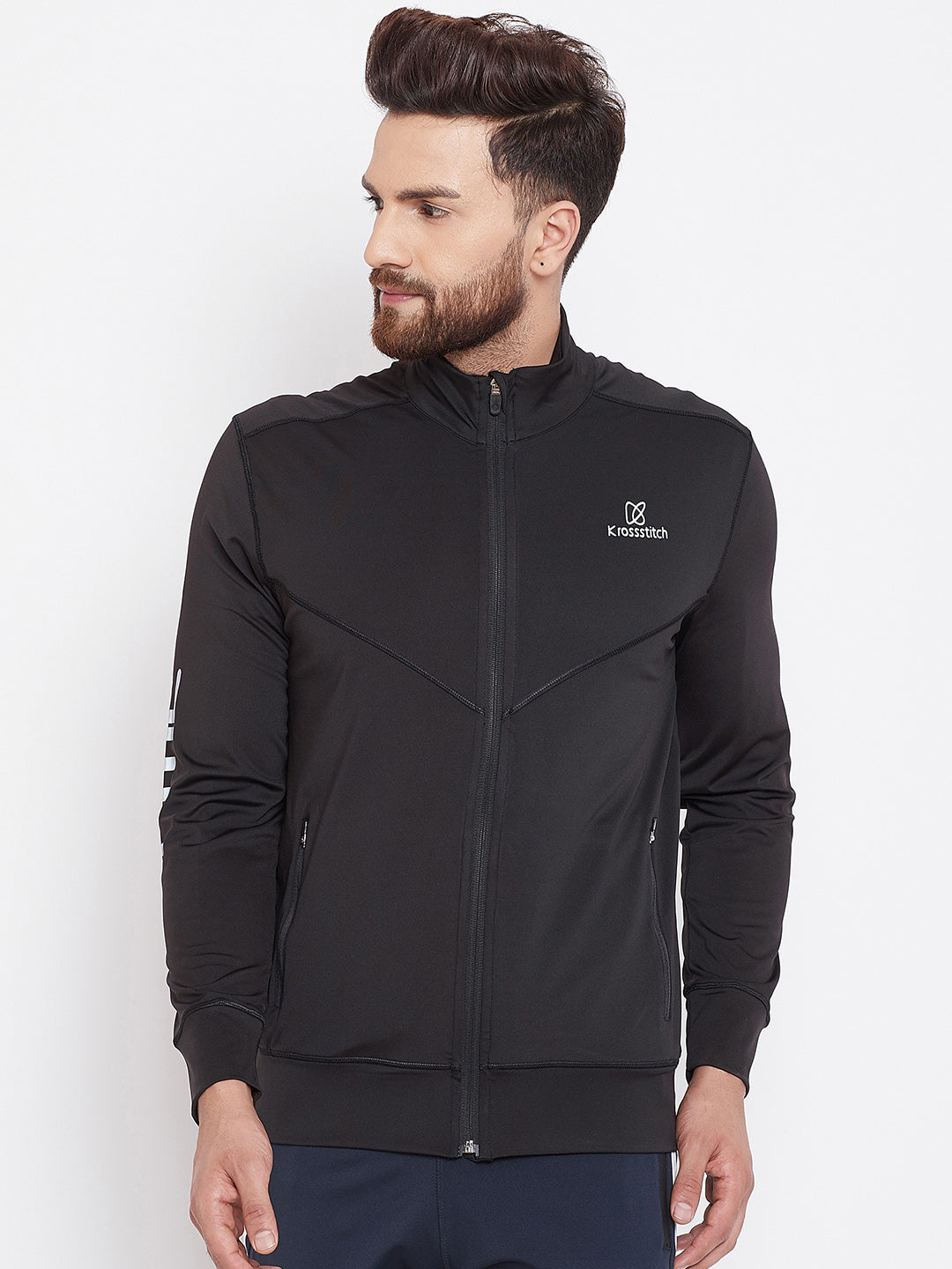 KROSSSTITCH Sports Men's Polyester Active Wear Jacket| Running Jacket | Gym Wear