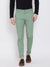 KROSSSTITCH Men's Cotton Green Casual Slim Fit Stretchable Chinos