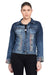 KROSSSTITCH Women Light Blue Full Sleeve Solid Denim Jacket With Button closer