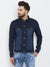 KROSSSTITCH Men's Full Sleeves Denim Blue Jacket with Button Closure