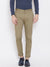 KROSSSTITCH Men's Cotton Olive Casual Slim Fit Stretchable Chinos