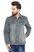 KROSSSTITCH Men's Full Sleeves Denim Jacket with Button Closure| Grey