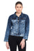 KROSSSTITCH Women Sky Blue Full Sleeve Solid Denim Jacket With Button closer