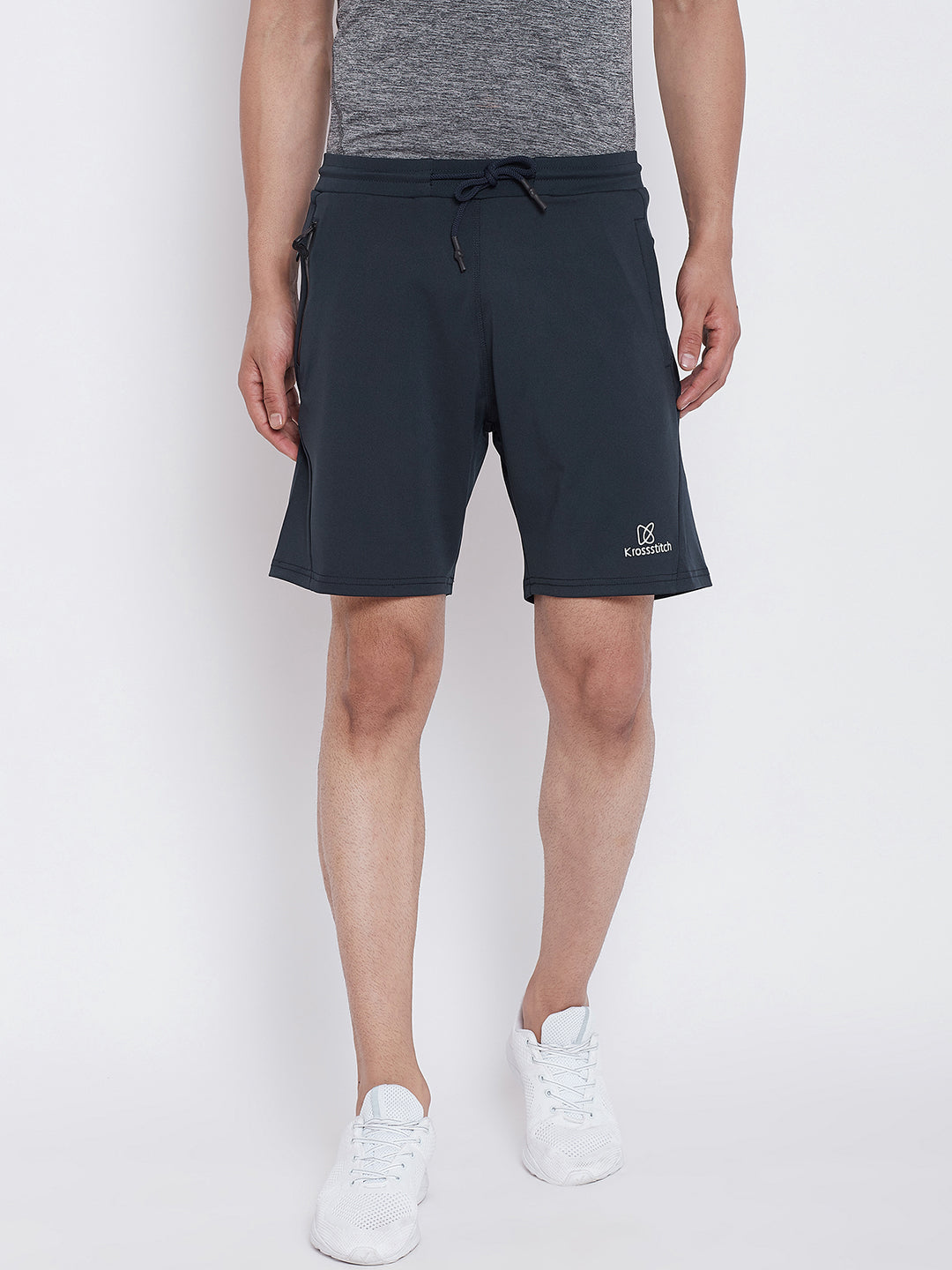 KROSSSTITCH  Men's Running & Sports Shorts with Zipper Side Pocket |Active Wear