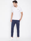 KROSSSTITCH Men Navy Blue Solid Slim Fit Track Pants