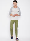 KROSSSTITCH Men's Olive Casual Slim Fit Chinos