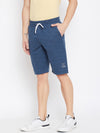 KROSSSTITCH Men Blue Solid Active Wear Shorts