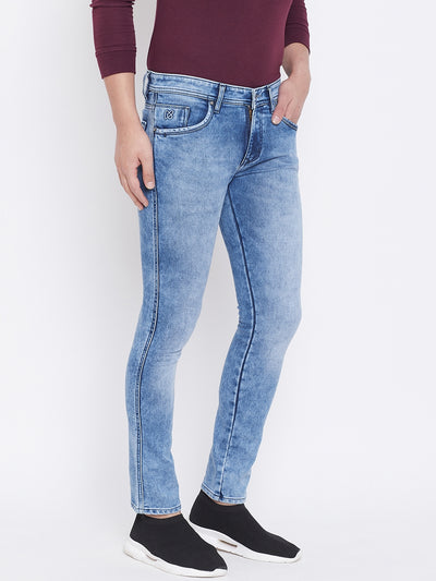 KROSSSTITCH Men Blue Slim Fit Mid-Rise Clean Look Jeans