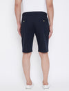 KROSSSTITCH Men Navy Blue Solid Slim Fit Chino Shorts