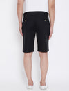 KROSSSTITCH Men Black Solid Slim Fit Chino Shorts