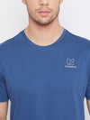 KROSSSTITCH Men Blue Round Neck T-Shirts