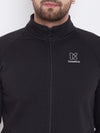 KROSSSTITCH Men Black Solid Varsity Jacket